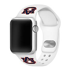 Officially Licensed NCAA 42mm/44mm Silicone Apple Watch Band - Auburn