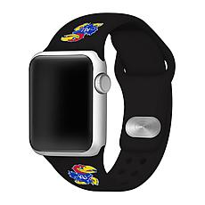 Officially Licensed NCAA 42mm/44mm Silicone Apple Watch Band - Kansas
