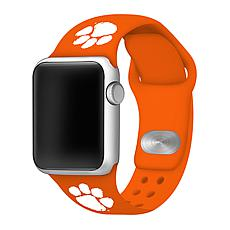 Officially Licensed NCAA 42mm/44mm Silicone Apple Watch Band - Clemson