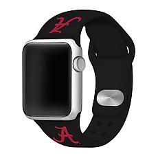 Officially Licensed NCAA 42mm/44mm Silicone Apple Watch Band - Alabama