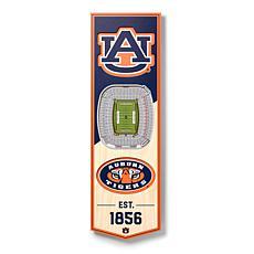 "Officially Licensed NCAA 6"" x 19"" 3D Stadium Banner - Auburn Tigers"