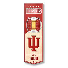"Officially Licensed NCAA 6"" x 19"" 3D Stadium Banner - Indiana Hoosiers"