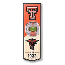 "Officially Licensed NCAA 6"" x 19"" 3D Stadium Banner - Raiders"