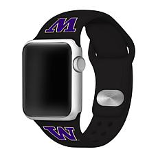 Officially Licensed NCAA Apple Watch Band - Washington (38/40mm Black)