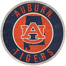 "Officially Licensed NCAA Auburn 12"" Wood Circle"