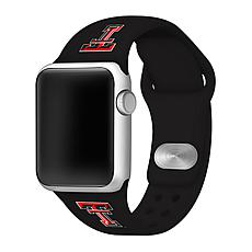 Officially Licensed NCAA Black 38/40MM Apple Watch Band - Texas Tech
