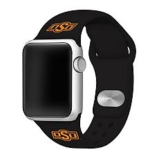 Officially Licensed NCAA Black 42/44MM Apple Watch Band - OK State