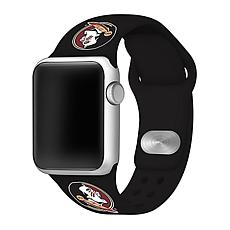 Officially Licensed NCAA Black 42/44MM Apple Watch Band- Florida State