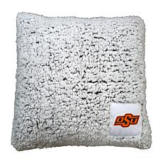 Officially Licensed NCAA by Logo Chair Frosty Throw Pillow - OK State