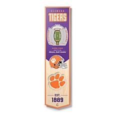 Officially Licensed NCAA Clemson Tigers 3D Stadium Banner