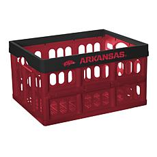 Officially Licensed NCAA Collapsible Crate - Arkansas