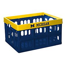 Officially Licensed NCAA Collapsible Crate - Michigan