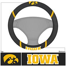 Officially Licensed NCAA Embroidered Steering Wheel Cover - Iowa