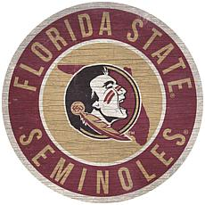"""Officially Licensed NCAA Florida State 12"""" Wood Circle"""