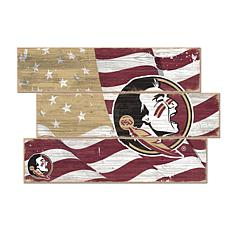 Officially Licensed NCAA Florida State Three Plank Flag