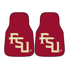 Officially Licensed NCAA FSU Seminoles Carpet Car Mat 2-Piece Set