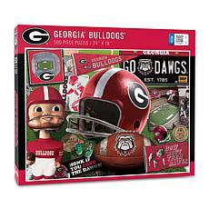 Officially Licensed NCAA Georgia Bulldogs Retro 500-Piece Puzzle