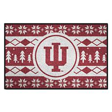 Officially Licensed NCAA Holiday Sweater Mat - Indiana University