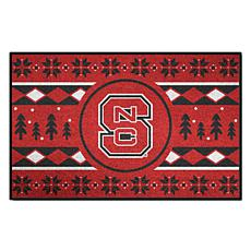 Officially Licensed NCAA Holiday Sweater Mat - NC State University