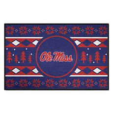 Officially Licensed NCAA Holiday Sweater Mat - Ole Miss