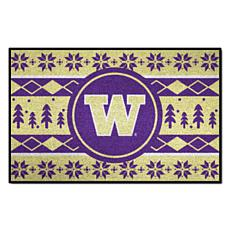 Officially Licensed NCAA Holiday Sweater Mat- University of Washington