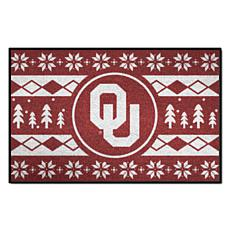 Officially Licensed NCAA Holiday Sweater Mat - University of Oklahoma