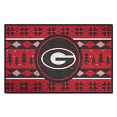 Officially Licensed NCAA Holiday Sweater Mat - University of Georgia