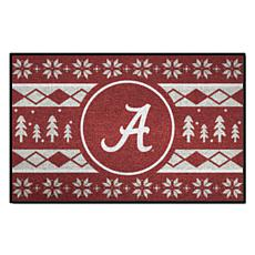 Officially Licensed NCAA Holiday Sweater Mat - University of Alabama