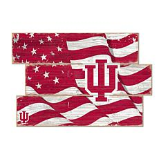 Officially Licensed NCAA Indiana Three Plank Flag