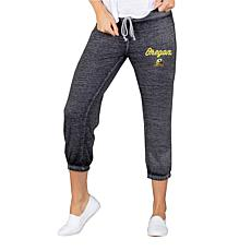 Officially Licensed NCAA Ladies Knit Capri Pant - University of Oregon