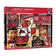 Officially Licensed NCAA Louisville Cardinals Retro 500-Piece Puzzle