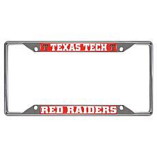 Officially Licensed NCAA Metal License Plate Frame - Texas Tech Un.