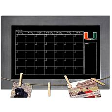Officially Licensed NCAA Miami Monthly Chalkboard w/ Clothespins