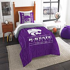Officially Licensed NCAA Modern Take Twin Comforter Set - Kansas State