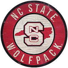 """Officially Licensed NCAA NC State 12"""" Wood Circle"""