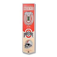 Officially Licensed NCAA Ohio State Buckeyes 3D Stadium Banner