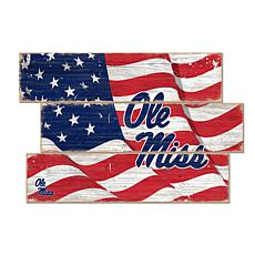 Officially Licensed NCAA Ole Miss Three Plank Flag