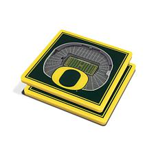 Officially Licensed NCAA Oregon Ducks 3-D StadiumViews 2-Pack Coasters