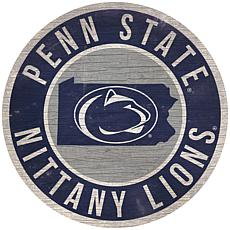 "Officially Licensed NCAA Penn State 12"" Wood Circle"