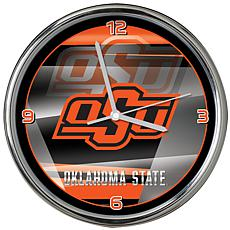 Officially Licensed NCAA Shadow Chrome Clock - Oklahoma State