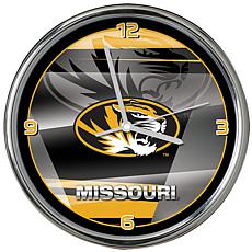 Officially Licensed NCAA Shadow Chrome Clock - University of Missouri