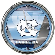 Officially Licensed NCAA Shadow Chrome Clock - University of NC