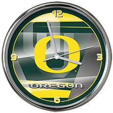 Officially Licensed NCAA Shadow Chrome Clock - University of Oregon