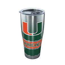 Officially Licensed NCAA Stainless Steel Tumbler - Miami Hurricanes