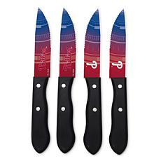 Officially Licensed NCAA Steak Knife Set - Philadelphia Phillies