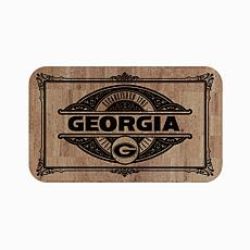 "Officially Licensed NCAA Team Logo 18"" x 30"" Cork Mat - Un. of Georgia"