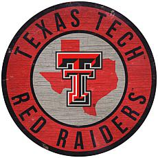 """Officially Licensed NCAA Texas Tech 12"""" Wood Circle"""