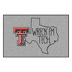 """Officially Licensed NCAA Texas Tech 19"""" x 30"""" Southern Style Rug"""