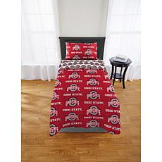 Officially Licensed NCAA Twin XL Bed in a Bag Set - OSU Buckeyes