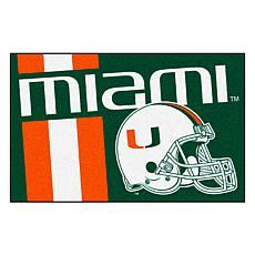 Officially Licensed NCAA Uniform Rug - University of Miami